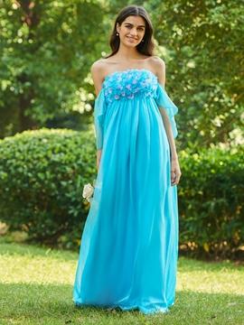 Strapless Empire A-Line Bridesmaid Dress