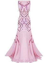 1920s Beaded Straps A-Line Floor Length Gatsby Prom Evening Dress