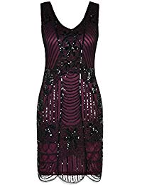1920s Flapper Dress Gatsby Sequin Scalloped Inspired Cocktail Dress