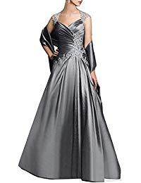 A-Line Applique Mother Of Bride Dresses Evening Gown