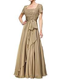 Floor Length Short Sleeve Mother Of The Bride Dresses