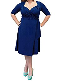 Formal 3-4 Sleeve Plus Size Short Mother of the Bride Dress