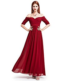 Formal Boat Neck Strapless Evening Dresses 08411