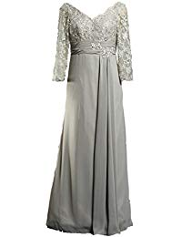 Formal Long Chiffon Mother The Bride Dresses Sleeves