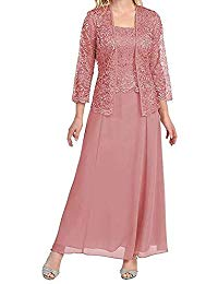 Lace Plus Size Mother of The Bride Dress with Jacket Tea Length ...