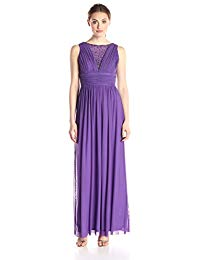 Long Dress with Shirring at Bust and Waist