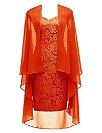 Mother of The Bride Dress with Jacket Formal Chiffon Lace Evening Dress Vestido De Noite