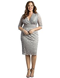 Plus Size Lumiere Lace Dress