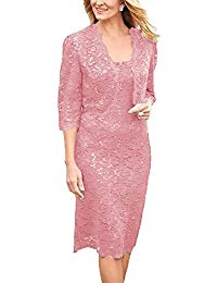 Plus Size Sequins Evening Gowns for Mother with Lace Jackets Two Piece