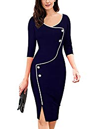 Babyonline Office Wear To Work Sheath Bodycon Casual Party Pencil Dresses