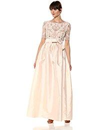 Beaded Taffeta Dress