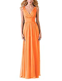 Evening Dress V Neck Maxi Mother of The Bridal Dresses Long Chiffon Prom Evening Gown