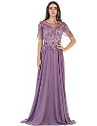 FDS1589 Mother The Bride Formal Classy Gown