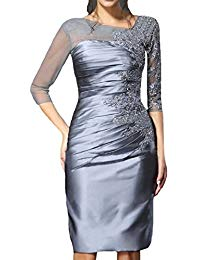 Formal Beading Prom Dresses Knee-Length Mother Of The Bride Dress Hear088