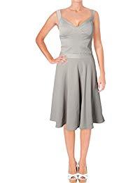 Idelle Banded Mother of The Bride Dress Beige 8