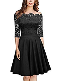 Lace Short Prom Retro Cocktail Dresses 2-3 Sleeves Quality Wedding and Party Dresses