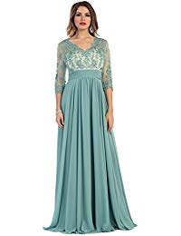 MQ1212 3-4 Sleeve Mother of The Bride Groom Gown