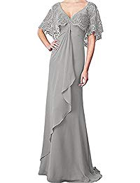 Mother of The Bride Dresses Lace Chiffon Long Mothers' Prom Evening Dress
