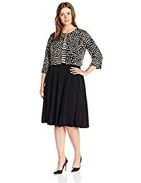 Plus Size 2 Piece a-Line Dress with Long Sleeved Jacket