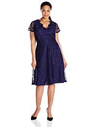 Plus-Size Lace A-Line Dress