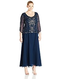 Plus-Size Scoop-Neck Long Dress