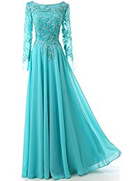 Scoop Neck Appliques Mother Of The Bride Dress Formal Gown Long MD012