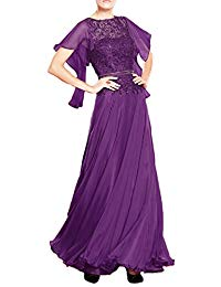 Sequins Chiffon Mother Of The Bride Dress With Sleeves Formal 1MD
