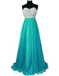 Strapless Beaded Bridesmaid Chiffon A-Line Gown