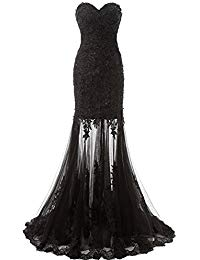Tulle Mermaid Sequin Evening Dress Formal Prom Gown AJ017