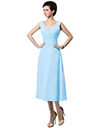 Women&Acute;s V Neck Chiffon Mother Of The Bride Dresses