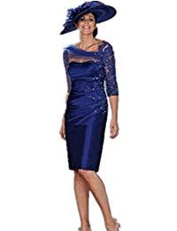 robe de soiree 2017 new fashion vestido de festa godmother royal blue short appliques Mother of the Bride Dresses