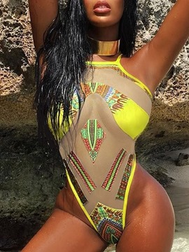 Color Block Patchwork Sexy Swimwear