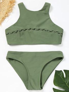 Plain Patchwork Bikini