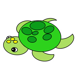 How To Draw A Cute Turtle Easy Step By Step For Kids Cute Easy Drawings