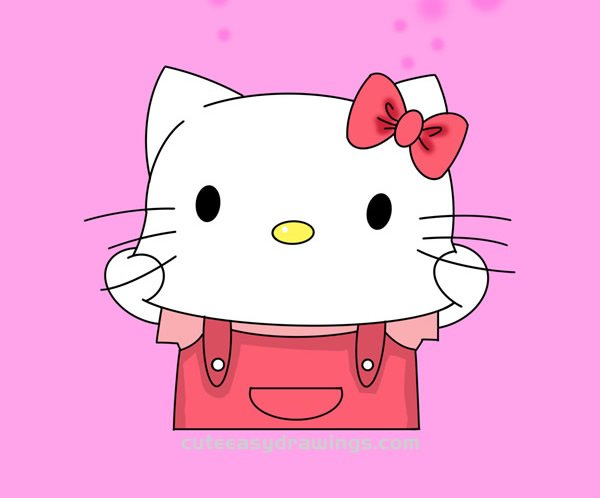 How To Draw Hello Kitty Making A Face Cute Easy Drawings