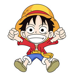 Draw eyebrows, eyes, nose and a big mouth. How To Draw Luffy From One Piece Step By Step Cute Easy Drawings