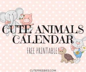 Free 2019 Cute Calendar With Animals! Free printable monthly calendar planner with cute baby animals. Get your free download now! #2019calendar #freeprintable #cutefreebies