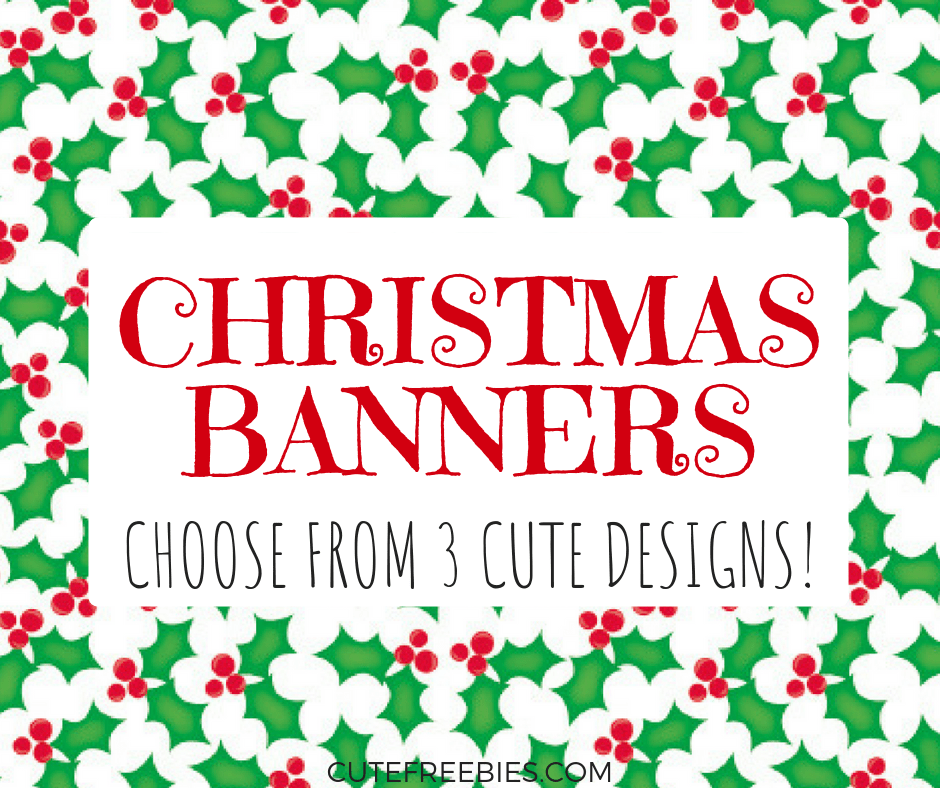 photograph regarding Printable Christmas Banner called Get together Printables Archives - Adorable Freebies For Yourself