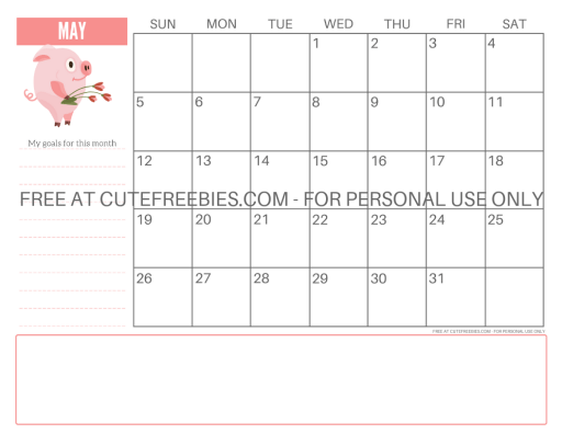 Cute Pig Planner For 2019 Cute Freebies For You