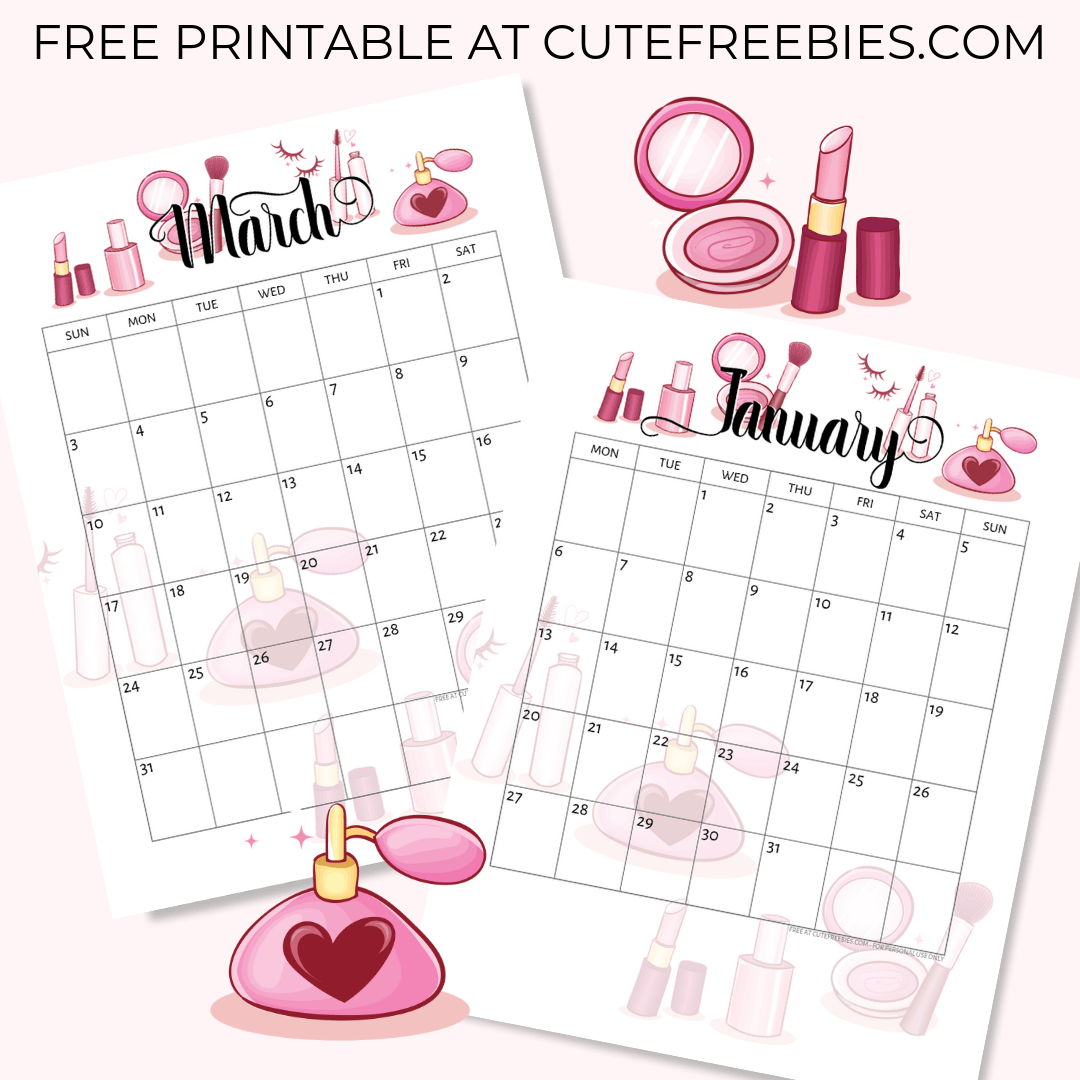 It's just a graphic of Mesmerizing Free Cute Printable Planner 2020
