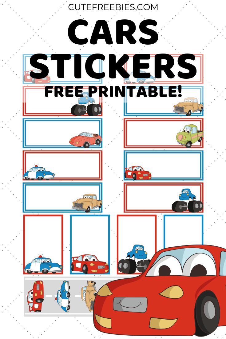 image relating to Free Printable Cars referred to as Vehicles-STICKERS-No cost-PRINTABLE - Lovable Freebies For Yourself
