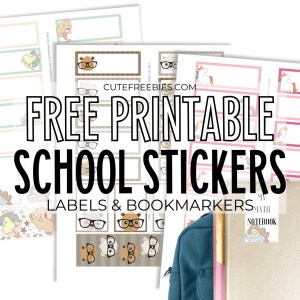 Free Printable Stickers So Cute Cute Freebies For You