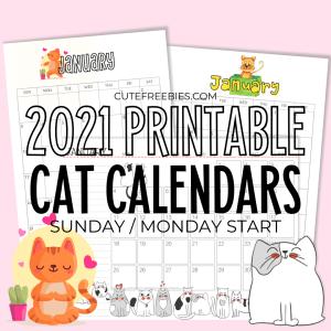 2021-CUTE-CAT-CALENDAR-PRINTABLE-2 - Cute Freebies For You