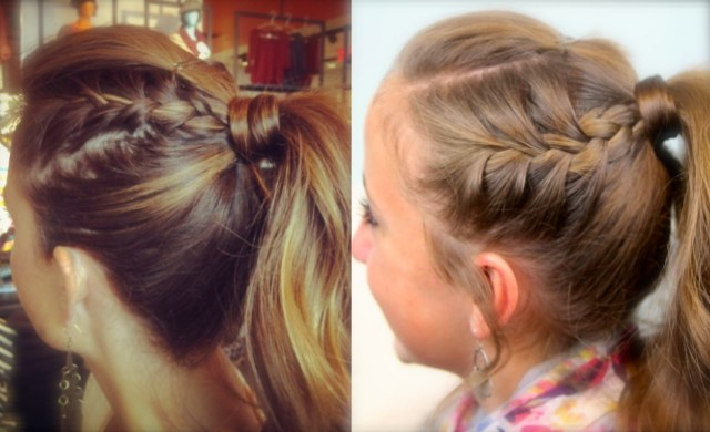 double-frenchbacks into high pony | cute ponytail ideas