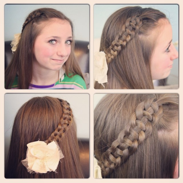 4-strand slide-up braid | pullback hairstyles | cute girls