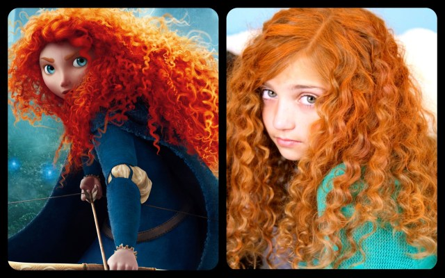 get merida's fiery and curly red hair | disney princess