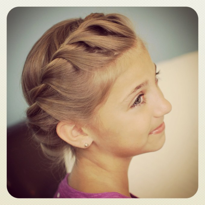 crown rope twist braid | updo hairstyles | cute girls hairstyles