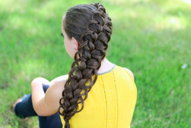 diagonal french loop braid | cute braid hairstyles | cute