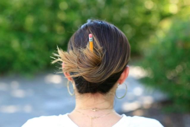 3 easy pencil bun ideas | back-to-school hairstyles | cute