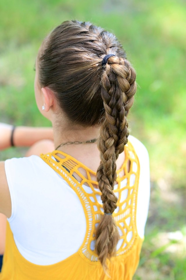 the run braid combo | hairstyles for sports | cute girls